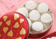 Valentine Kourabia Cookies Gift Tin