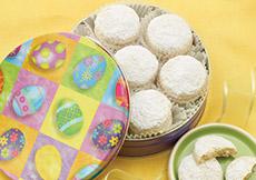 Easter Kourabia Cookies Gift Tin