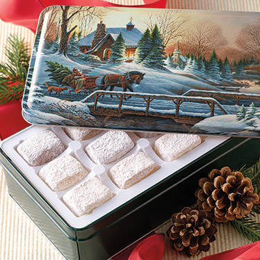 Country Christmas Gift Tin