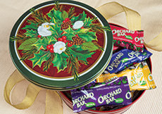 Orchard Bar Bites Holly Gift Tin