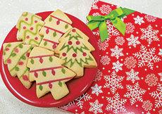 Christmas Tree Shortbread Box